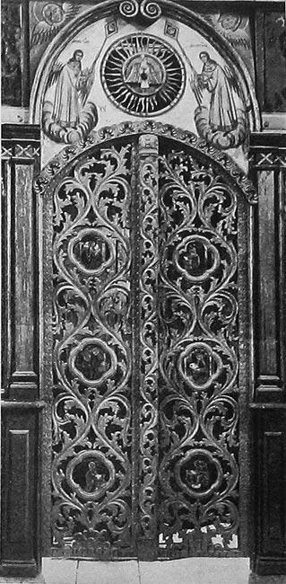 с.Коровново. Царские врата Преображенской церкви.